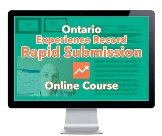 ontario rapid submission course for experience record