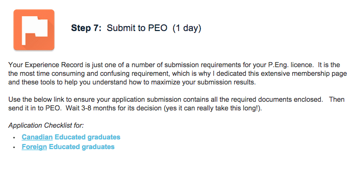 Module/Step 7 - You're finally ready to submit. Send you package off to PEO and wait for the decision.