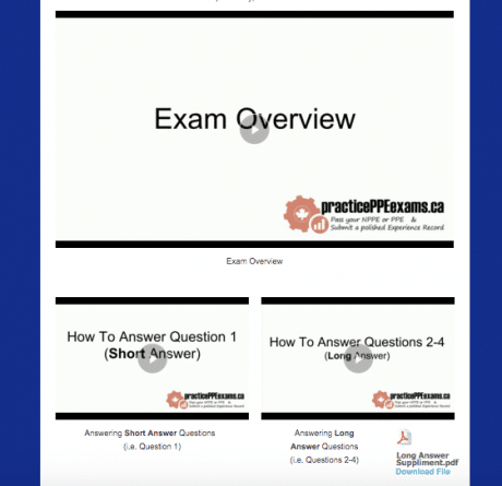 To help you learn about the exam and how to do well on the long & short answer questions, there are video presentations created for your viewing pleasure (Advanced & Pro versions only).