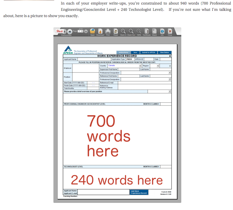 number of words for each WER