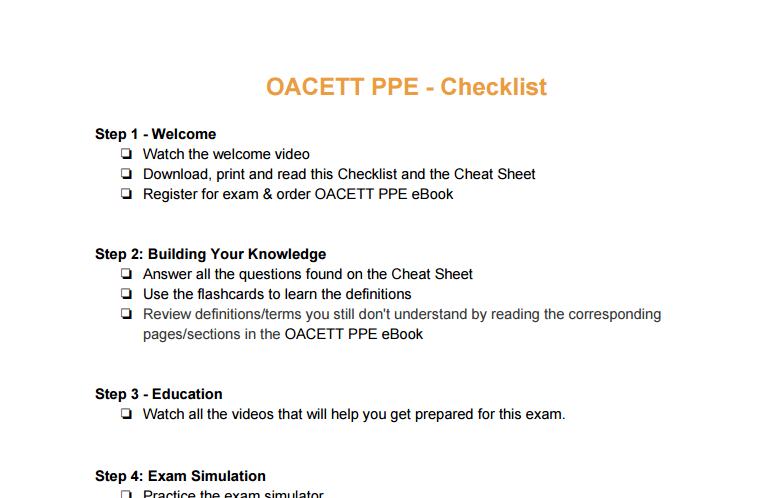 Oacett ppe course practice exam with full solutions flashcards more watch videos to help you deal with multiple choice questions mcqs as well as the three syllabus topics of law ethics and practice yelopaper Gallery