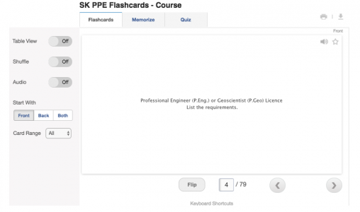 step-2 flashcard ppe learning for APEGS exam