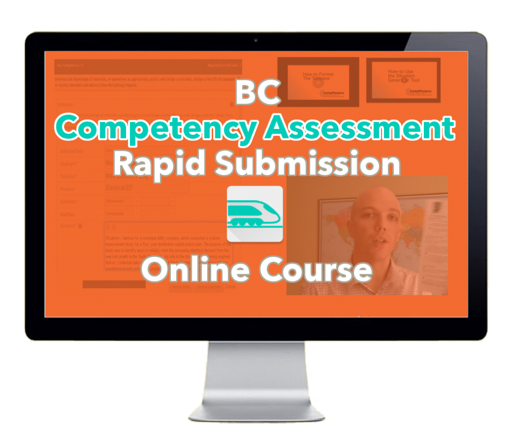 BC competency assessment course - Computer monitor